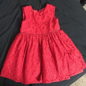 Other - Red lace little girls dress Size 3T